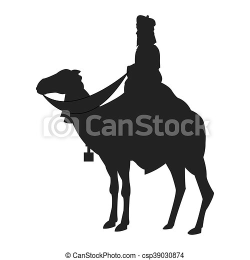 magi with camel silhouette icon - csp39030874