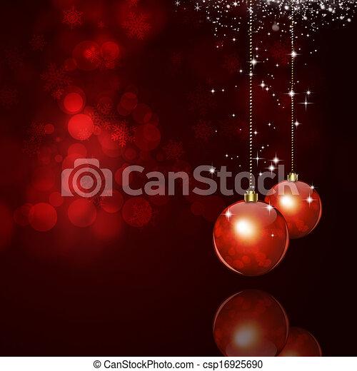 Trasfondo rojo mágico de Navidad - csp16925690