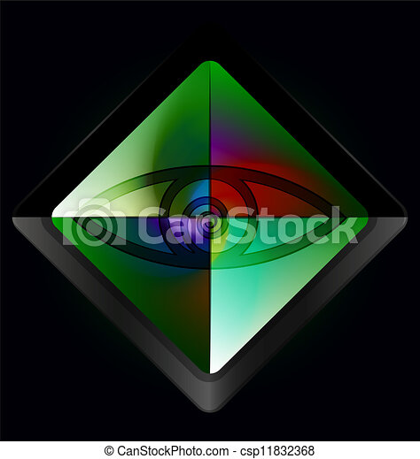 Ojo verde mágico - csp11832368