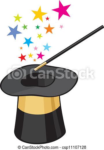 Ilustracin vectorial de magia sombrero csp11107128  Buscar Clip