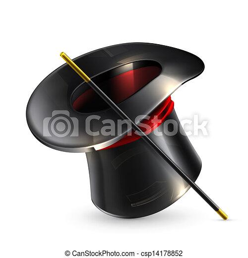 magia, walec, kapelusz - csp14178852