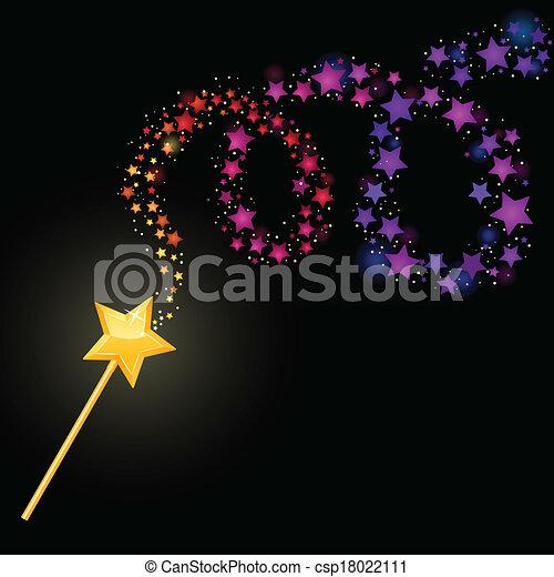 magia, wand. - csp18022111
