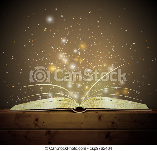 Magic book - csp9762484