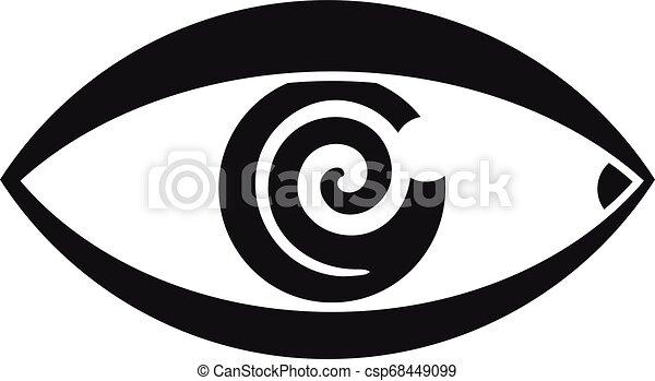 Magic eye hypnosis icon, simple style