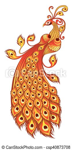 Magic firebird on a white background - csp40873708