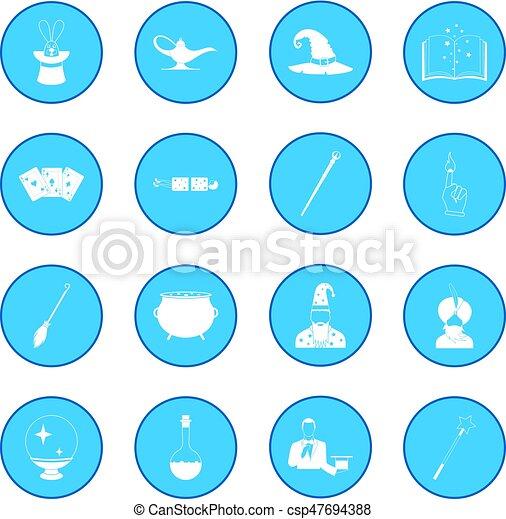 Magic icon blue - csp47694388