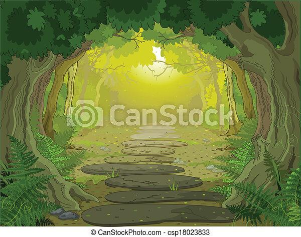 Magic landscape entrance - csp18023833