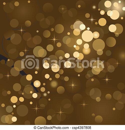 Magic lights, background sparkle - csp4397808