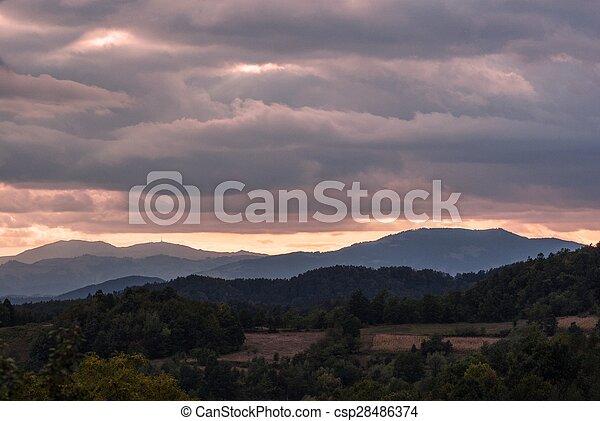 magic morning landscape - csp28486374