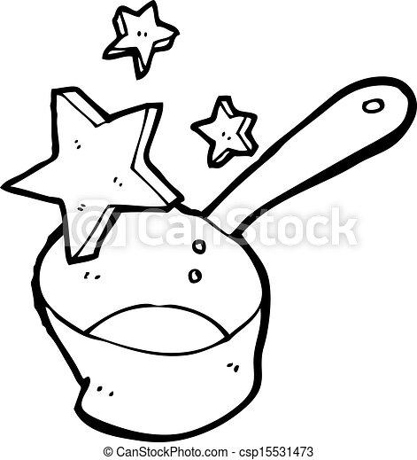 magic old kitchen plan - csp15531473