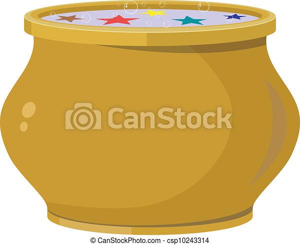 Magic pot. EPS10 - csp10243314