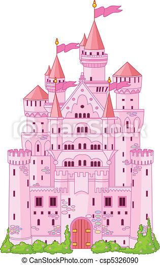Magic princess Castle   - csp5326090