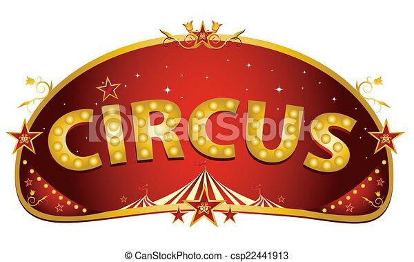 Magic red circus sign - csp22441913
