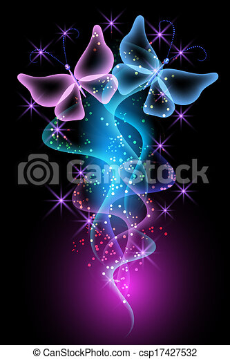 Magic transparent butterfly - csp17427532