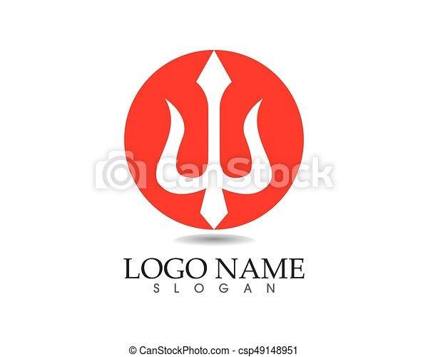 Magic Trident Logo And Symbols Template Vector Clipart Vector