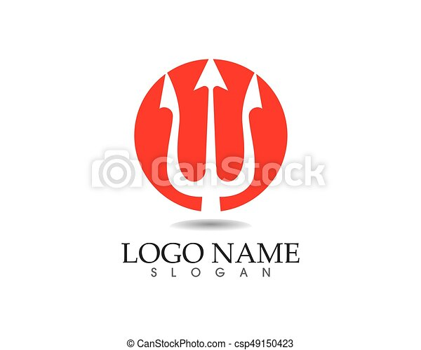 Magic Trident Logo And Symbols Template Vector Vector Illustration