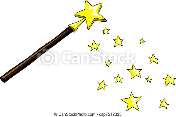 magic wand cartoon magic wand with stars vector illustration rh canstockphoto com wand clipart black and white wanda clip art