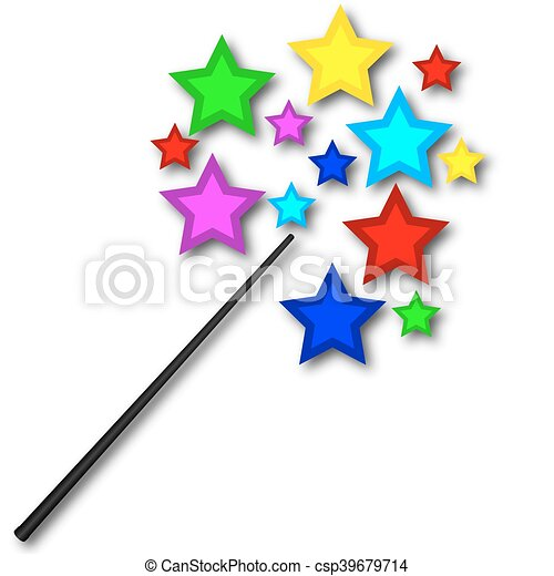 magic wand with bright stars vector art illustration vector clip rh canstockphoto com wind clipart wind clipart black and white
