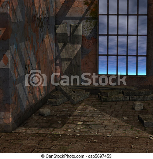 magic window in a fantasy setting. 3D rendering of a fantasy theme for background usage. - csp5697453