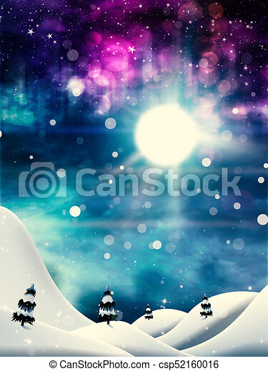 Magic Winter Night - csp52160016