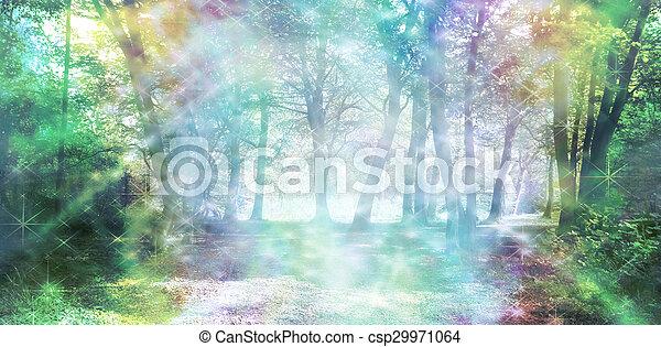 Magical Spiritual Woodland Energy - csp29971064