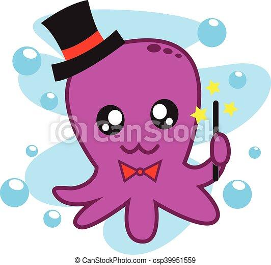 magician octopus vector art illustration clipart vector search rh canstockphoto com octopus vector image octopus vector free download