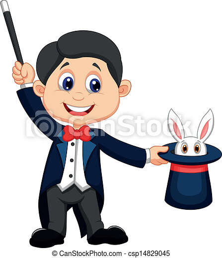 vector illustration of magician pulling out a rabbit from eps rh canstockphoto com magician clip art free clipart magician hat