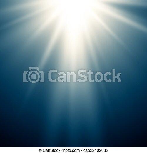 magie, fond, résumé, lumière bleue - csp22402032