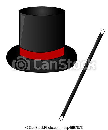 détaillant le magasin offres exclusives magie noire, baguette, chapeau