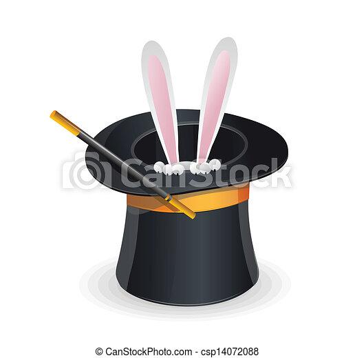 Magie vecteur chapeau lapin - Dessin de chapeau de magicien ...