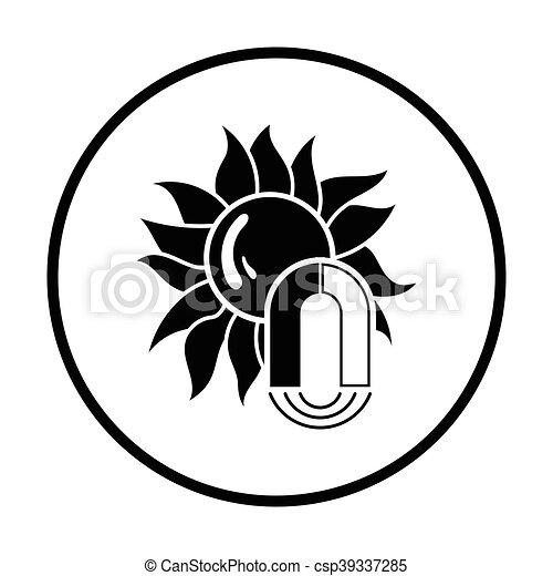 Icono de tormenta magnética - csp39337285