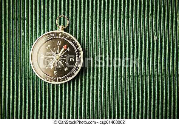 magnétique, papier, vert, compas - csp61463062