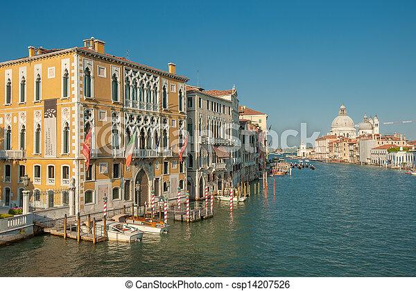 Gran canal, Venecia, Italia - csp14207526