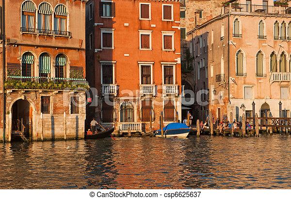 Gran canal, Venecia, Italia - csp6625637