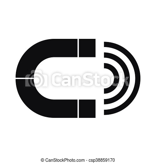Magnet icon, simple style - csp38859170