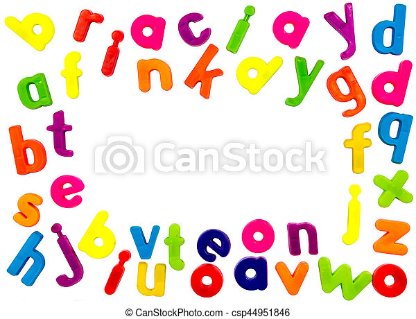Magnetic alphabet letters - csp44951846