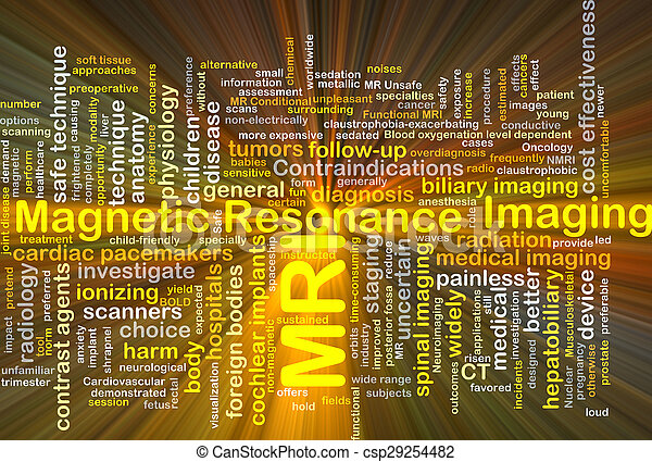 Magnetic resonance imaging MRI background concept glowing - csp29254482