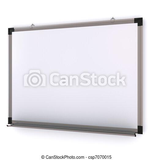 magnetico, isolato, wall., interpretazione, asse, bianco, 3d - csp7070015
