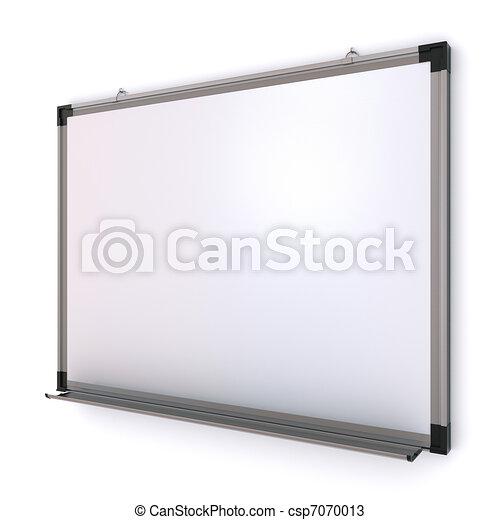 magnetico, isolato, wall., interpretazione, asse, bianco, 3d - csp7070013