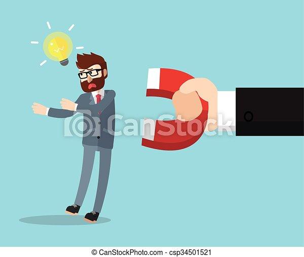 magnetized, uomo affari - csp34501521