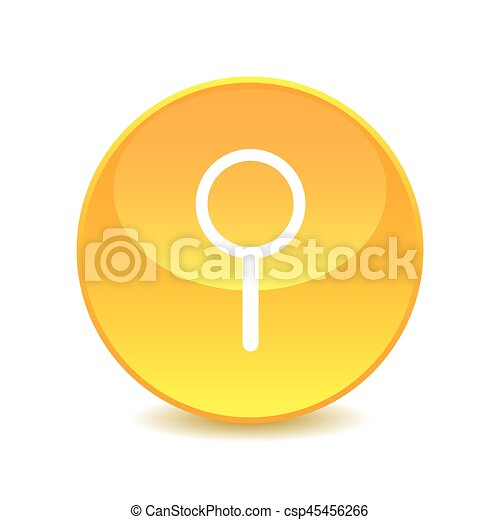 magnifer , magnifer icon on the background , vector - csp45456266