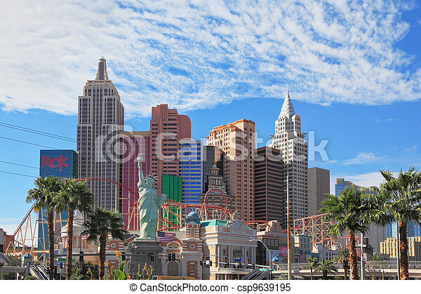 """Magnificent hotel """"New York"""" in Las Vegas - csp9639195"""