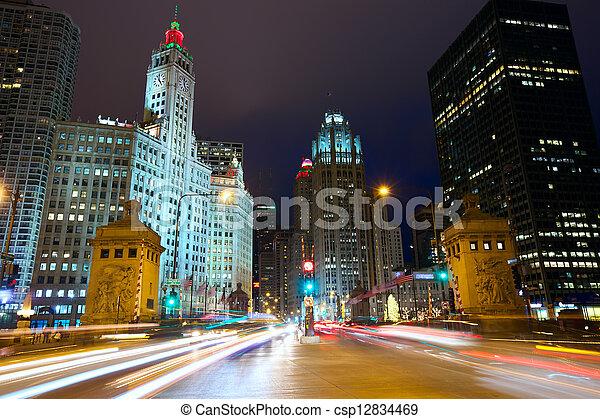 Magnificent Mile in Chicago - csp12834469