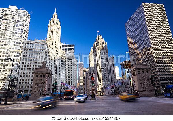 Magnificent Mile in Chicago - csp15344207