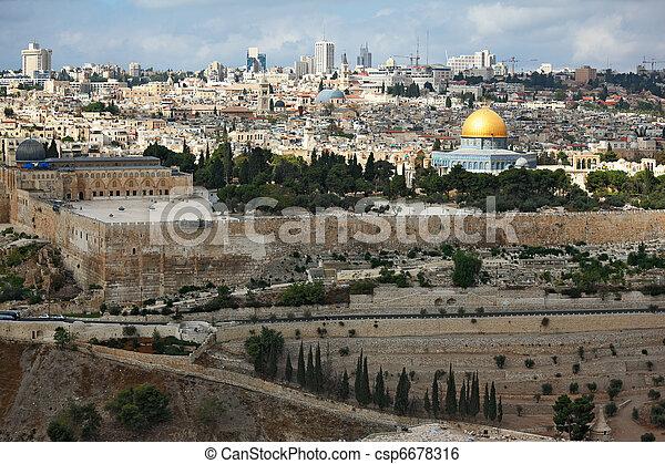 Magnificent panorama of Jerusalem - csp6678316