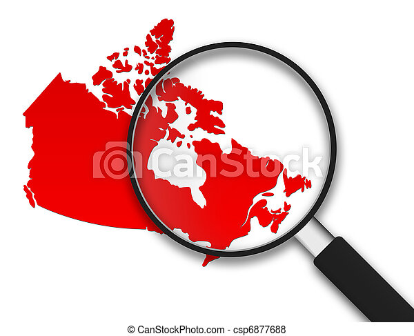 Magnifying Glass - Canada - csp6877688