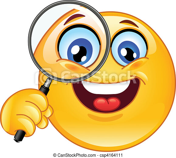 Magnifying glass emoticon - csp4164111