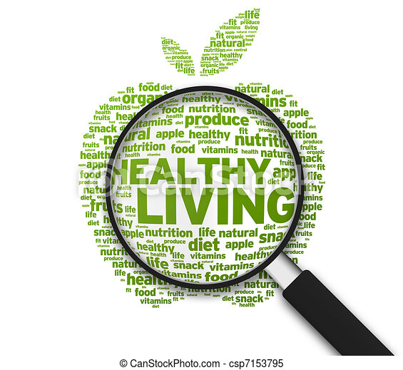 Magnifying Glass - Healthy Living - csp7153795