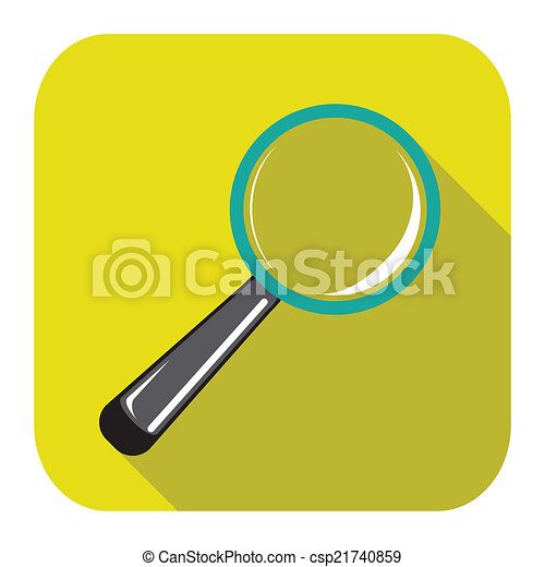 magnifying glass icon - csp21740859