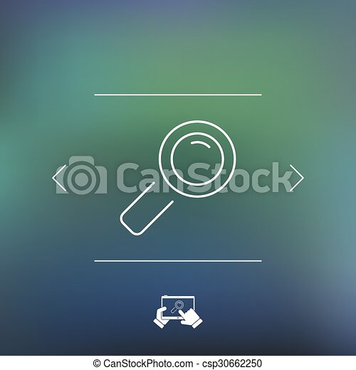 Magnifying glass icon - csp30662250